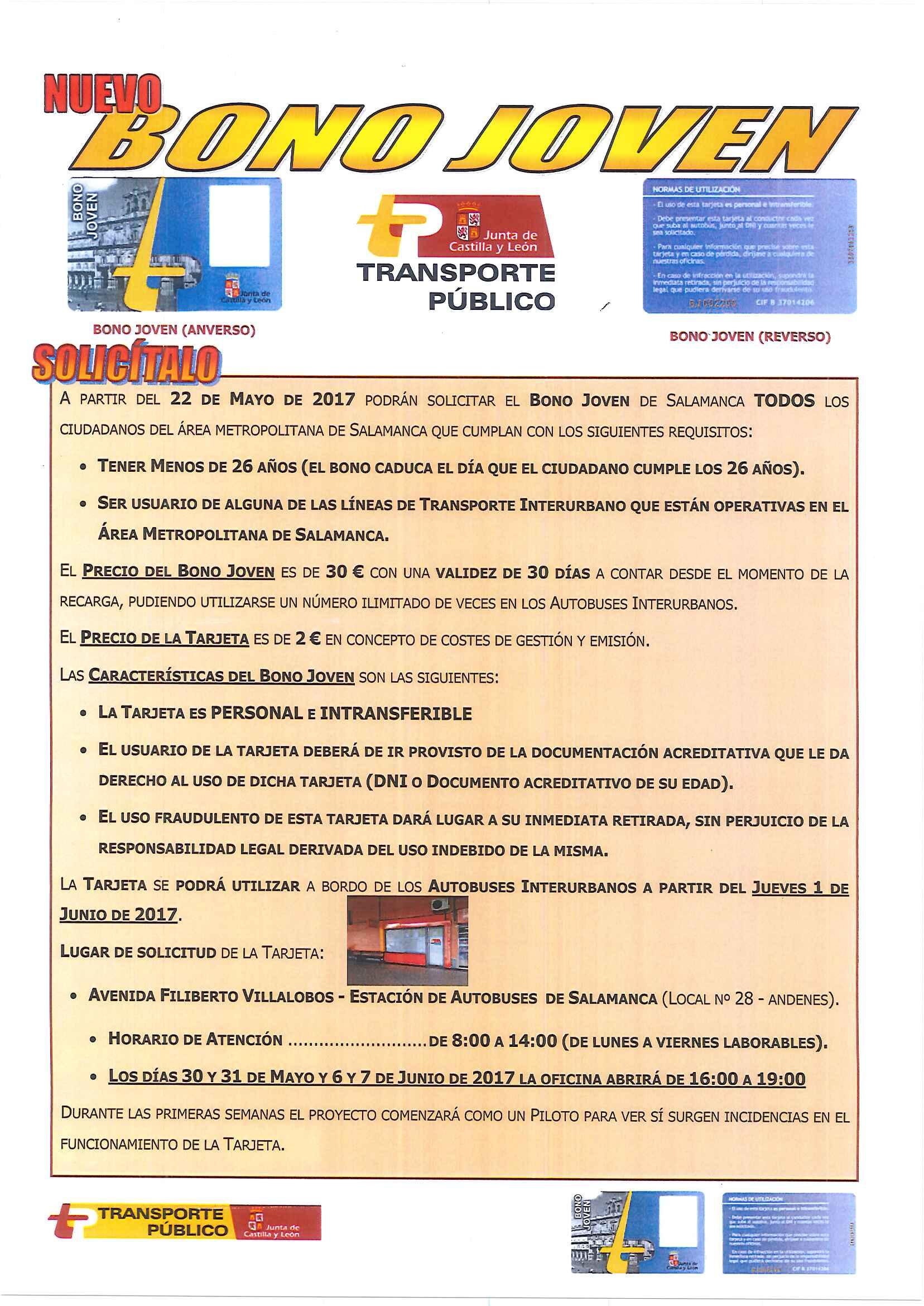 Transporte p blico ayuntamiento de carbajosa de la sagrada for Oficina abono transporte